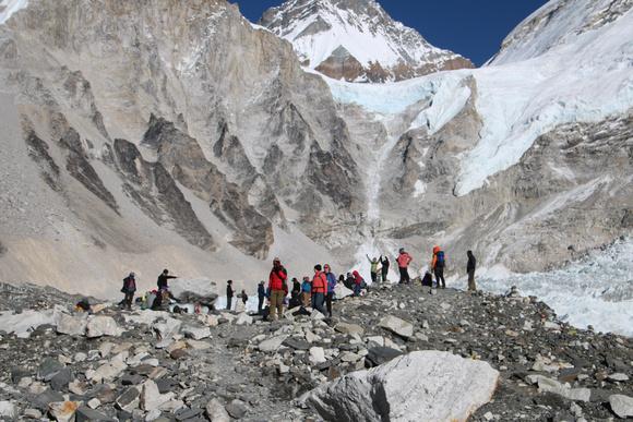 Crowds at Everest Base Camp