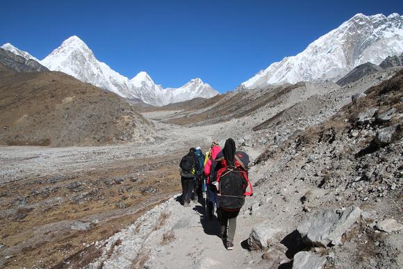 Trekking from Everest Base Camp