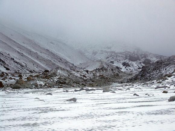 Snow at base camp