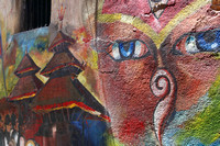 Buddhist, Hindu and Newari depictions in street Art