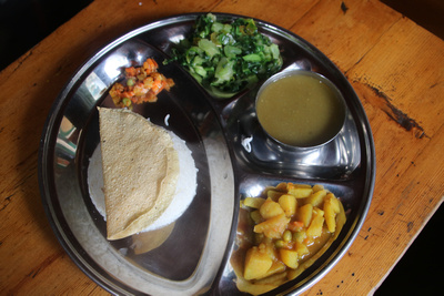 Dal Bhat is the staple food of all trekkers in Nepal