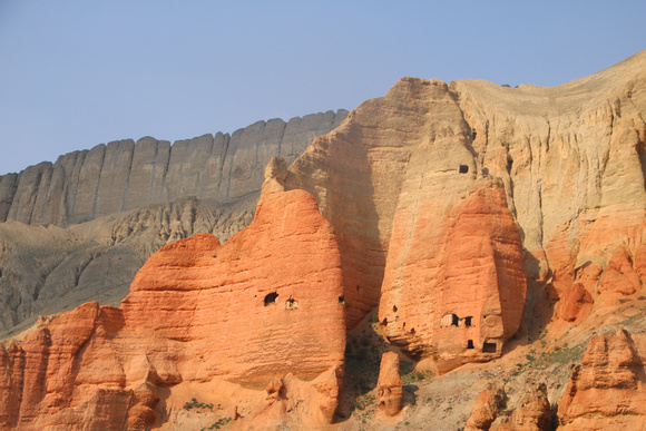 The Red Mountains of Drakmar in Western Upper Mustang