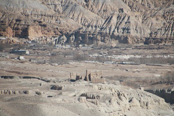 Ghost village in Upper Mustang