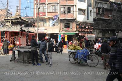People enjoying Ason Chowk