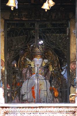 Seto Machchhendranath statue at Jana Bahal, Kathmandu