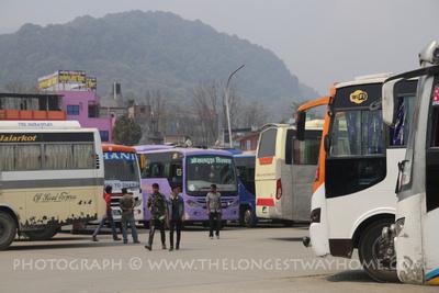 Buses going to Panauti