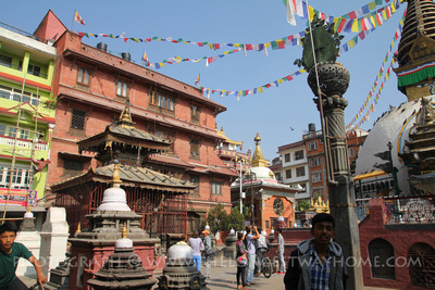 Hariti Shrine in the Kathesimbhu courtyard