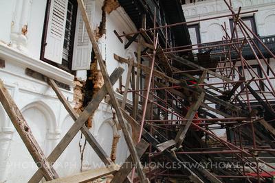 Repair work in Kathmandu Durbar Square
