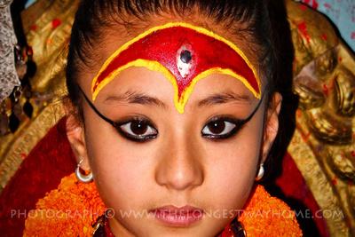 A Kumari living goddess