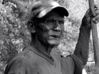 Ifugao Rice Terrace Worker, Sagada, The Philippines