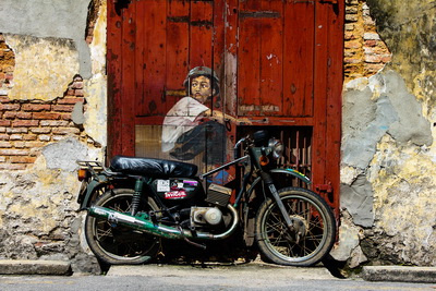 Boy on Motorbike - George Town, Penang, Malaysia