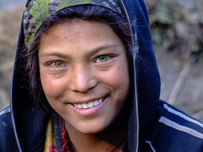 Green eyed Nepalese Girl - Nepal