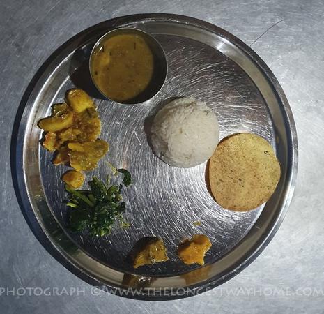 Plate of Dal Bhat on Dhaulagiri Circuit Trek