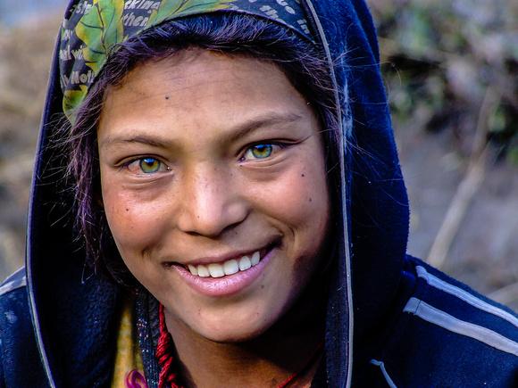 Green eyed Nepal girl