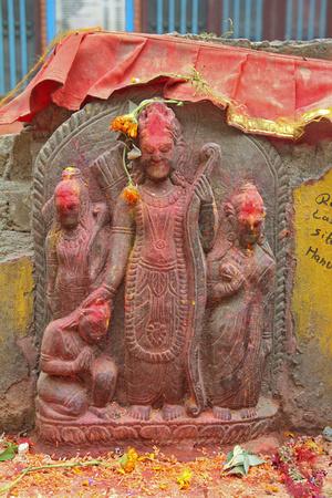 Rare statue of Ram in Nepal