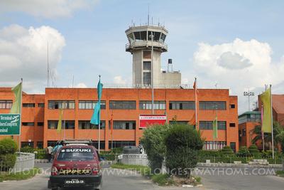 Tribhuvan International Airport in Kathmandu, Nepal