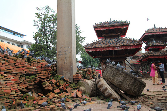 Rubble around Kathmandu Durbar Square