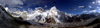 Mount Everest Panorama (labeled)