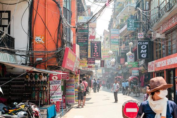 Main street in Thamel