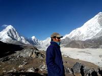 trekker in Nepal