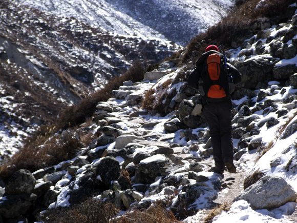 Trekking in the Snow in Nepal