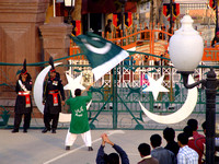 Wagah Border Ceremony from the Pakistan side