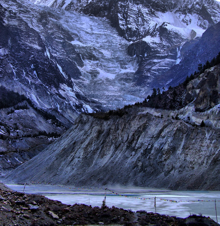 Night Glacier in Nepal
