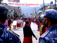 Protests in Pokhara Nepal www.thelongestwayhome.com