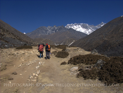 The main trail to Mount Everest
