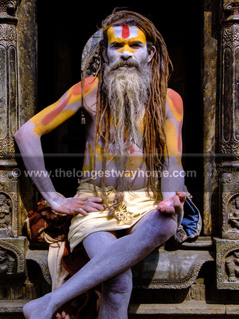 A Sadhu holy man at Shivaratri Nepal