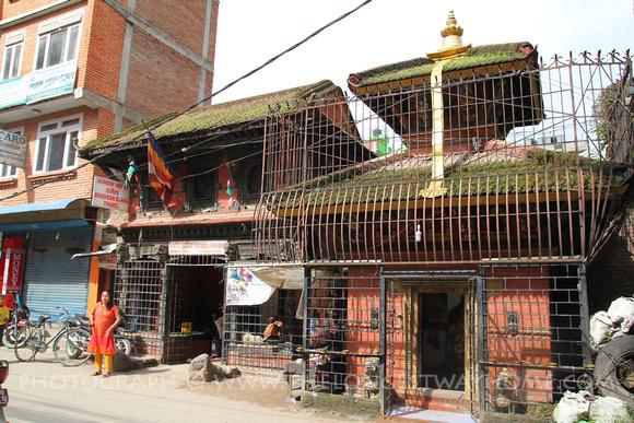 Outside Bhagwan Bahal in Thamel, Kathmandu