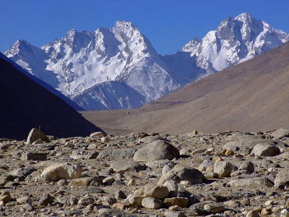 The mountains of Tibet await