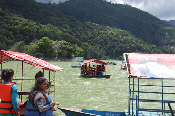 Pokhara's lake Phewa
