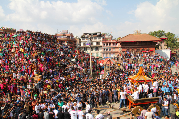 Indra Jatra crowds in Kathmandu