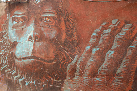 Street art image from planet of the apes