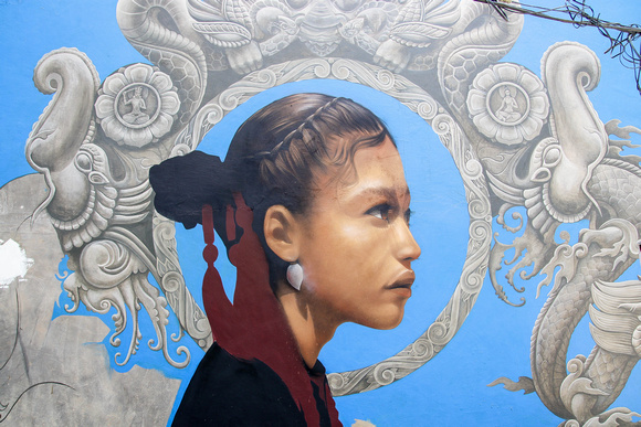 Newari girl artwork image in Kathmandu