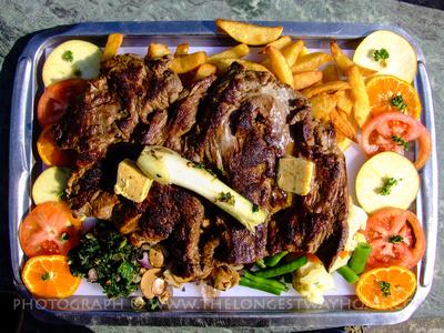 Beef steak served up in Kathmandu, Nepal