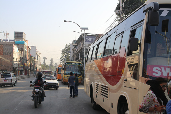 Kathmandu tourist bus stop