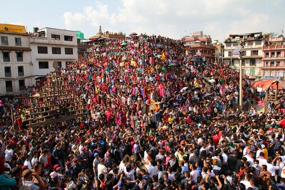 Crowds in Nepal