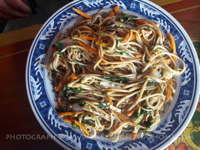 Fried noodles on the Poon hill trek
