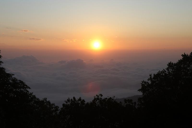 Sunrise at Panchase peak