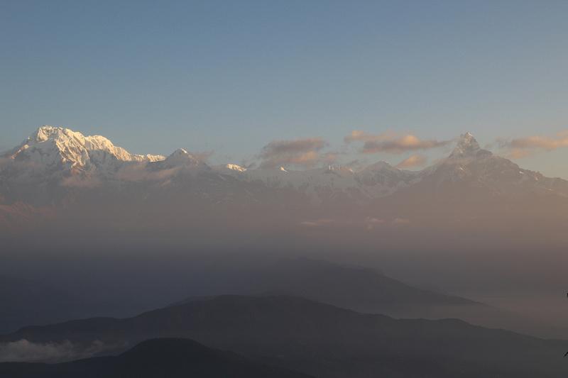 Mountain sunrise at Panchase Peak