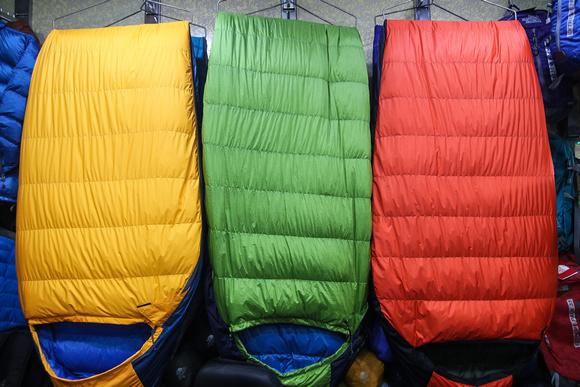 Sleeping bags in Nepal