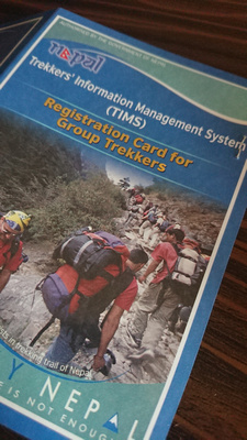 Trekkers Information Management System Card (TIMS card)