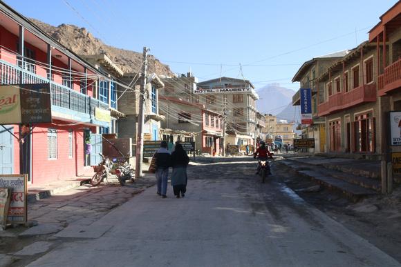 Main road in Jomsom