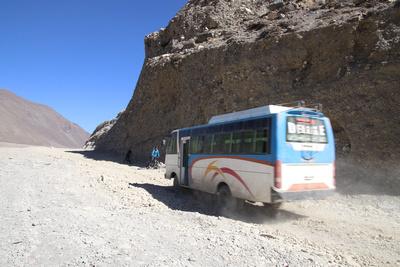 Bus in Upper Mustang