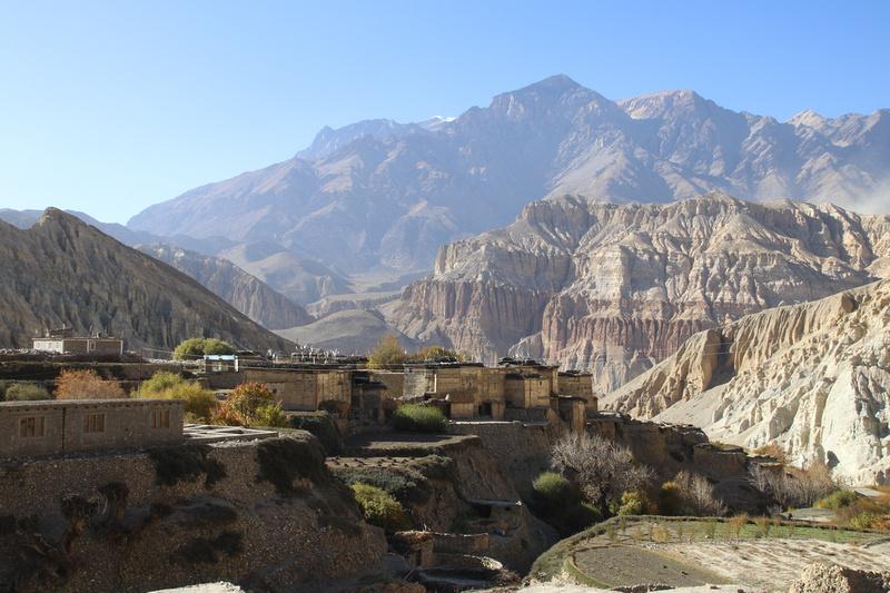 Tetang Village in Upper Mustang