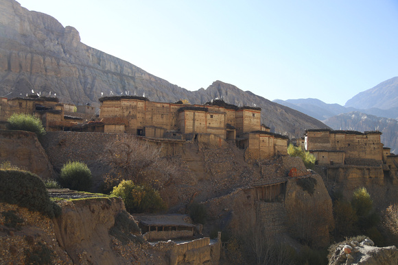 The mountain top fortress village of Tetang Upper Mustang
