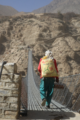 The suspension bridge to Ghyakar