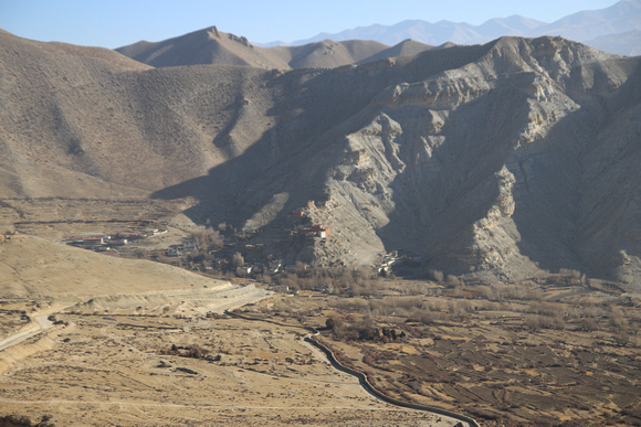 The town of Geling in Upper Mustang